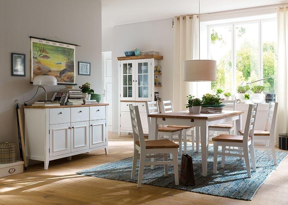 Esszimmermöbel Malin Landhausmöbel Weiß Natur 7945 Buy now at - esszimmer buffet