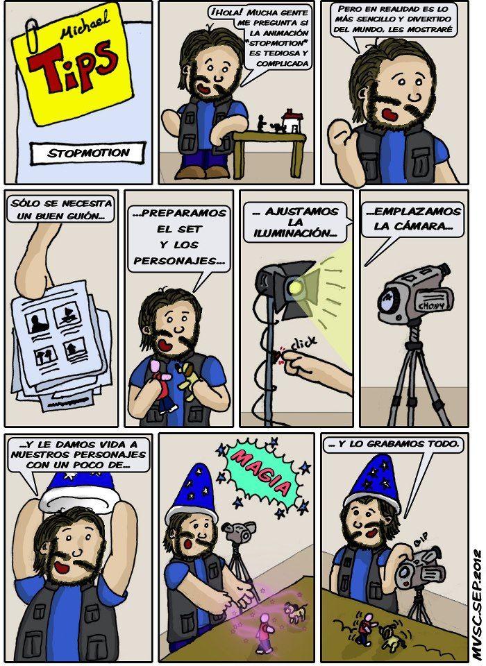 Comic ¿Cómo se hace animación Stop Motion? Este tebeo nos muestra a ...