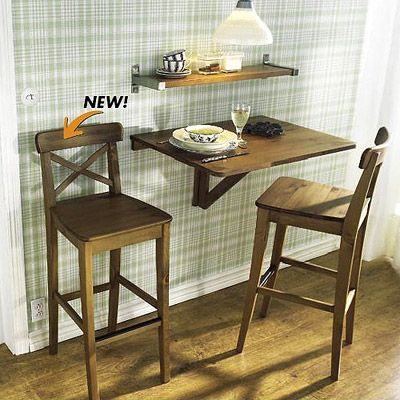 Ikea Norbo Wall Mounted Table Kitchen Bar Stools Wall