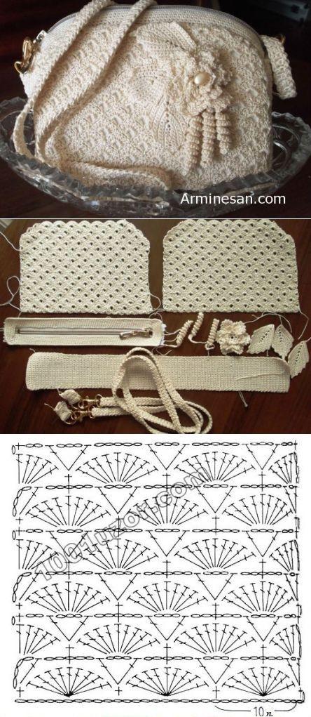crochet bag | Moldes bolsos | Pinterest | Bolsos, Ganchillo y Bolsos ...