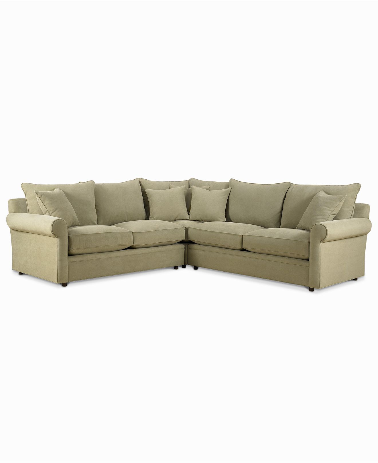Best Doss Fabric Microfiber 3 Piece Sectional Sofa Apartment 640 x 480