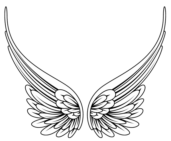 917fb4cec Tribal angel tatoos high quality photos and flash designs of eings tattoos  simple wings also rh