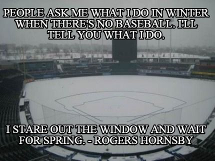 Image result for winter baseball deals meme