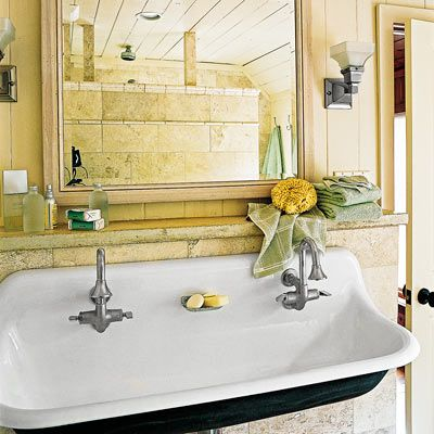 How to Design a Cozy Cottage-Style Interior. Cast Iron SinkTrough SinkBasin  SinkVintage ...