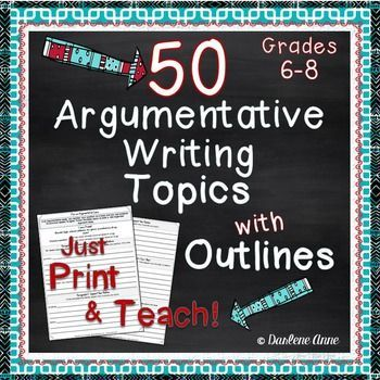 argument writing outlines rubrics for middle school 50 argument topics outlines and rubrics where has this resource been all my life