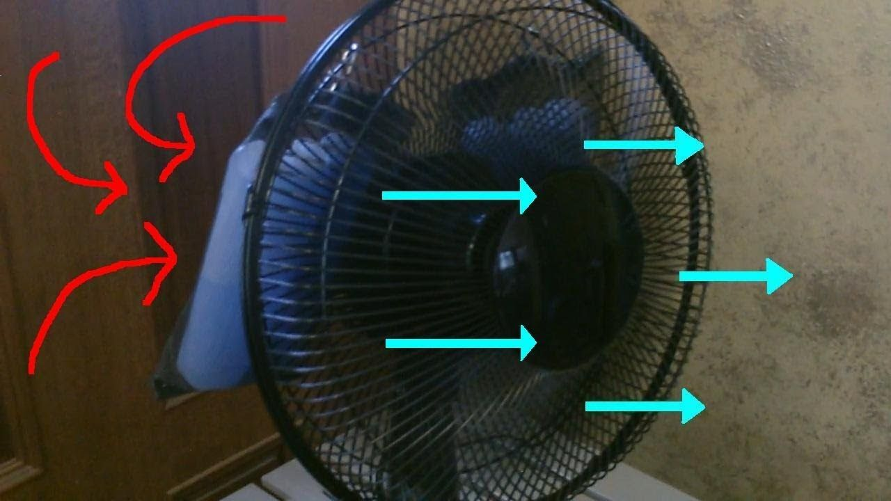Simple Diy Ac Space Cooler Desk Fan W Ice Packs Ez Diy Fan