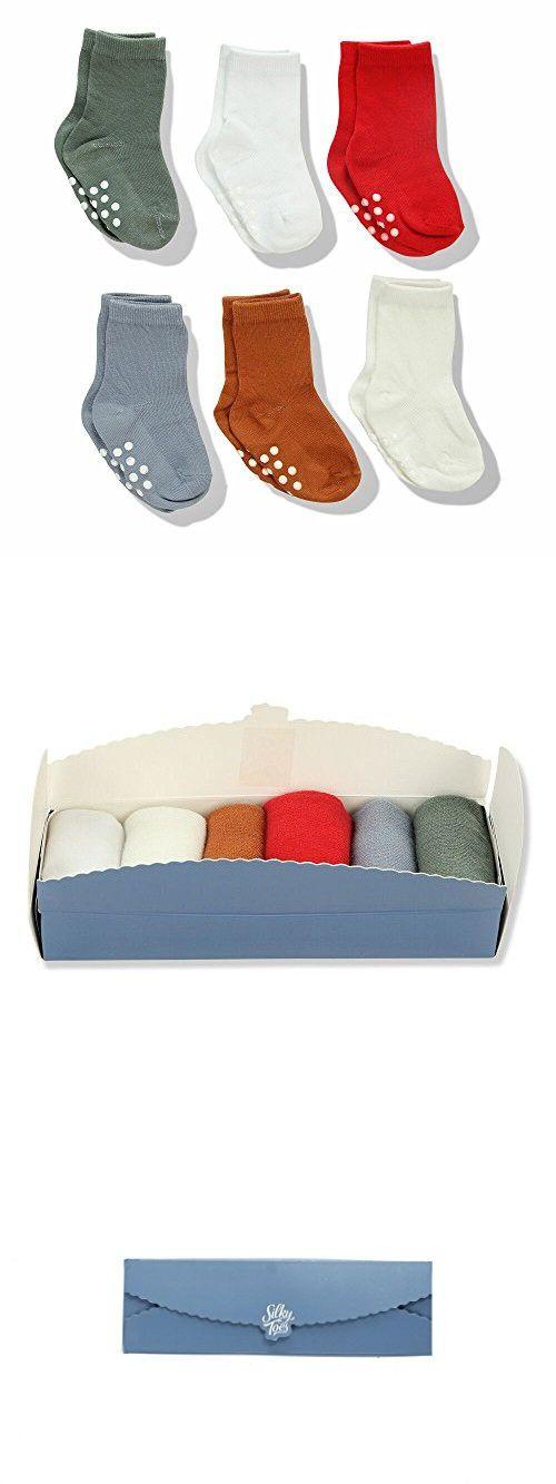 Baby Gift Set Silky Toes Non-Skid Baby Girl Boy Toddler Socks Multi Pack