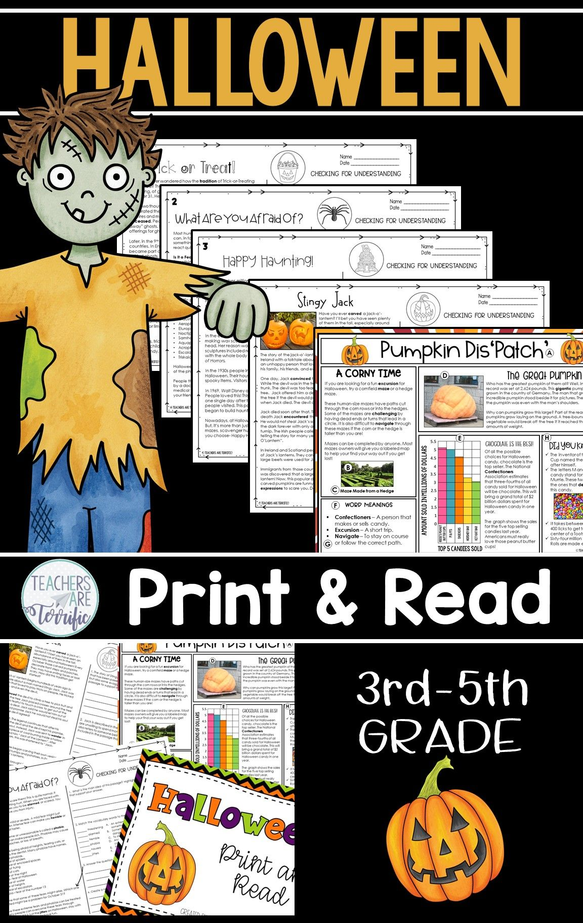 Halloween Reading Passages Print Amp Read