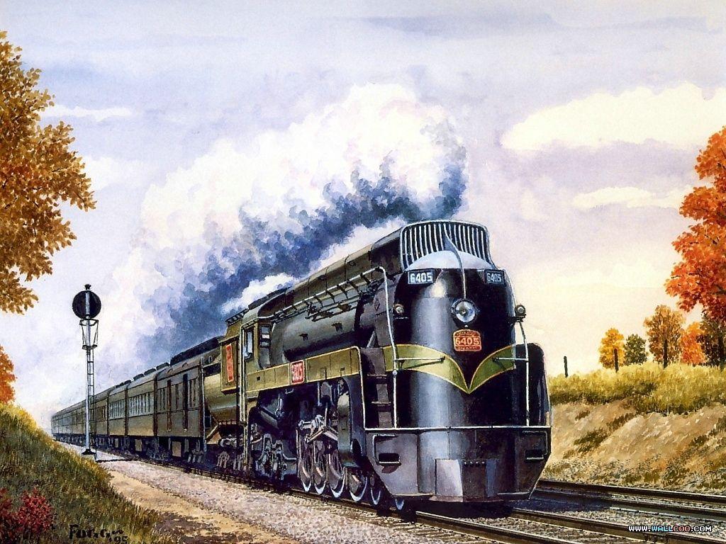 Art Train Journeys Railroad Art Steam Train Paintings