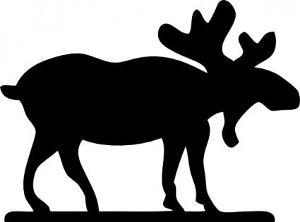 Moose Sihouette Clip Art Free Vector In Open Office Drawing Svg Svg Moose Animal Animal Silhouette Moose Clipart