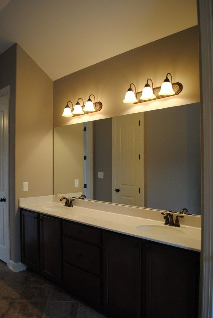 bathroom furniture cool three light brushed nickel wall fixture bath ...