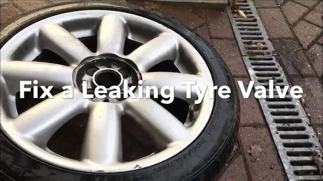 How to Fix a Tyre (tire) Valve leak Fix it, Tyre shop