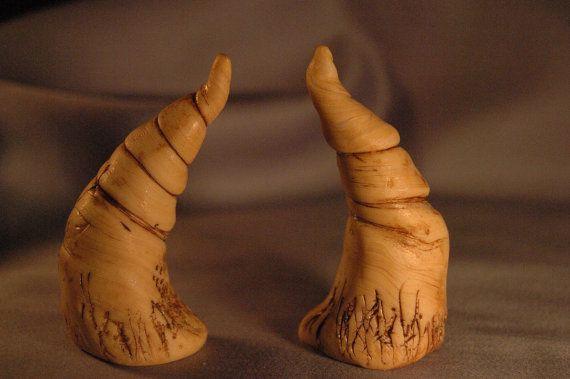 Large Satyr Imitation Bone  HORNS  Halloween by VoodooSoapandBeads, $11.99
