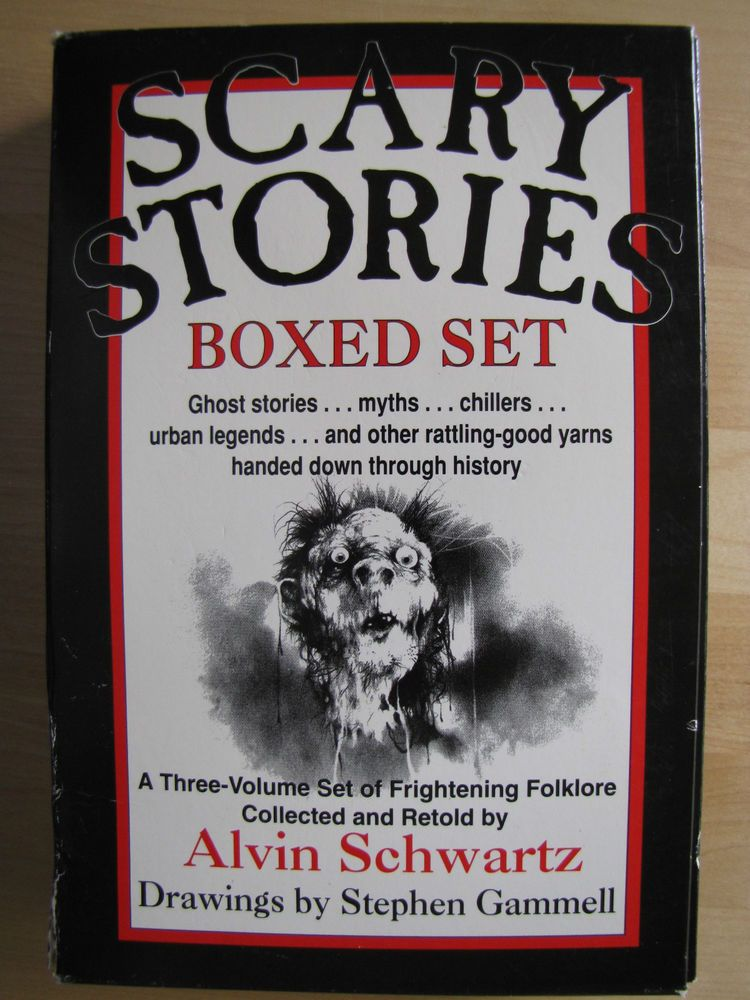 Alvin Schwartz Scary Stories To Tell In The Dark Box Set 3 Books More VGUC