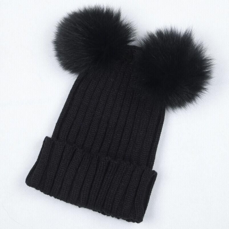 c6107fac4 Pom Pom Beanie - Braided Crochet Wool Knit Beanie Beret Ski Ball Cap ...