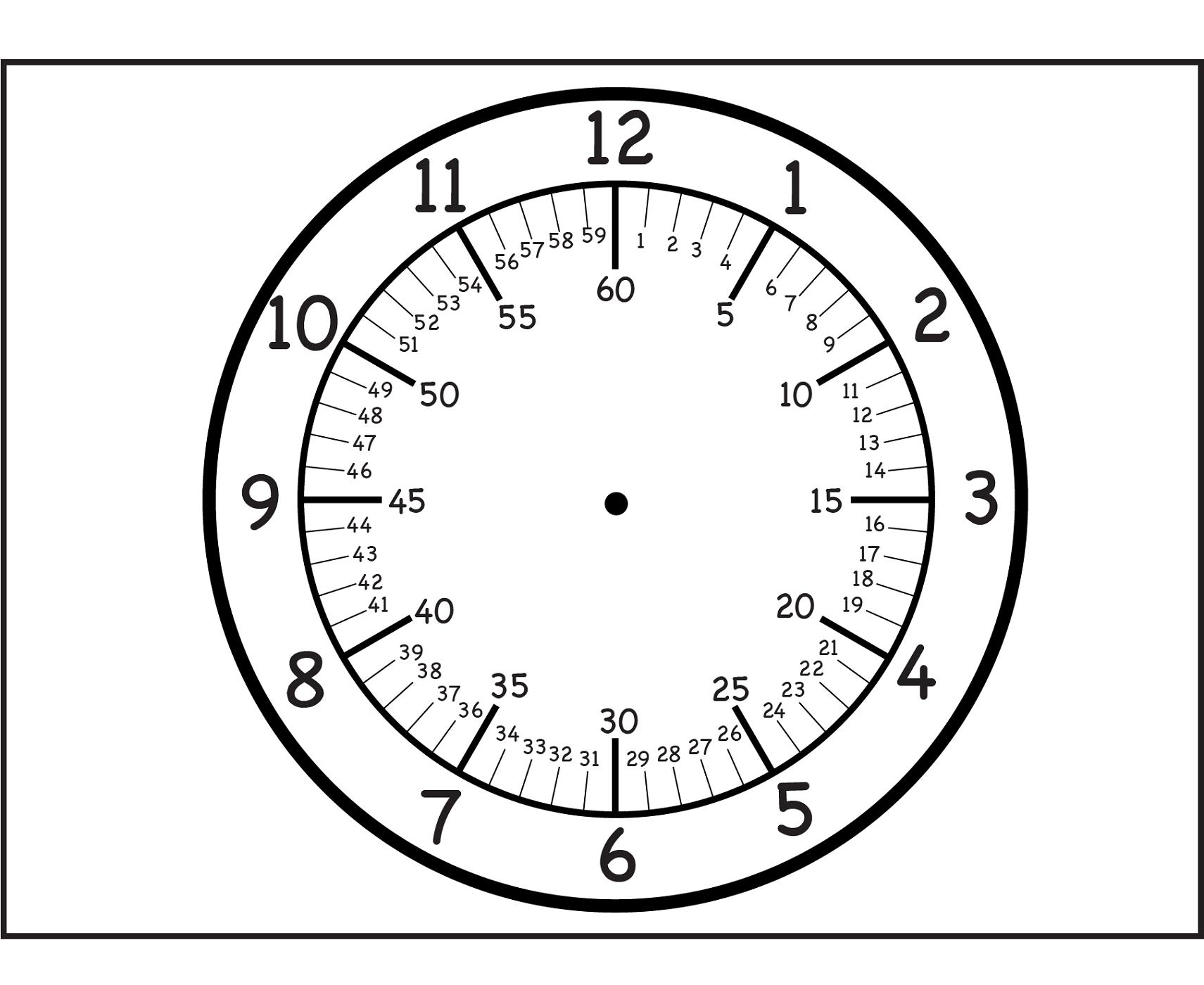 Printable Clock For Media Reading Clock