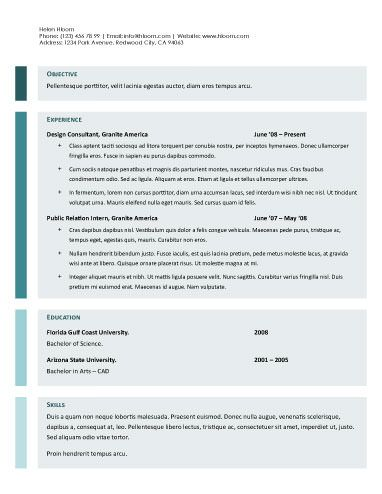 Google Resume Templates Streamlined Google Docs Resume Template  Resume Templates And