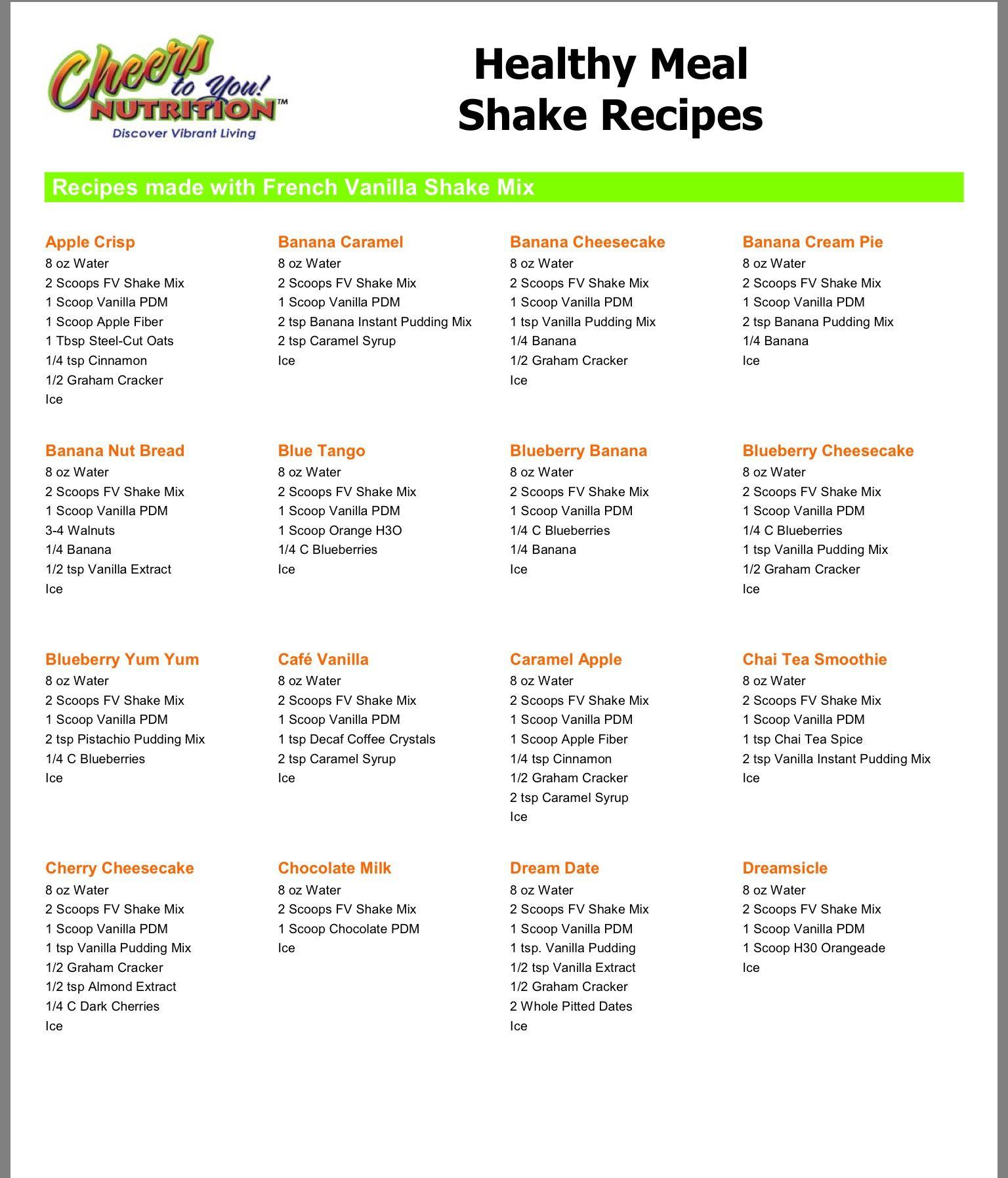 Shake Flavors Herbalife Shake Recipes Herbalife Recipes Herbalife Shake