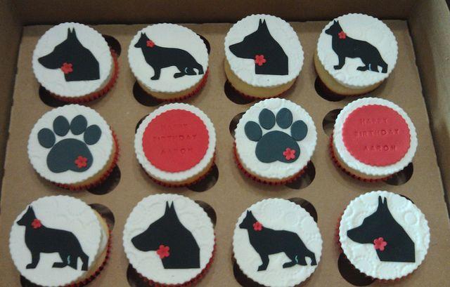 German Shepherd Cupcake Dog Cakes Cupcake Cakes 30 Birthday Cake