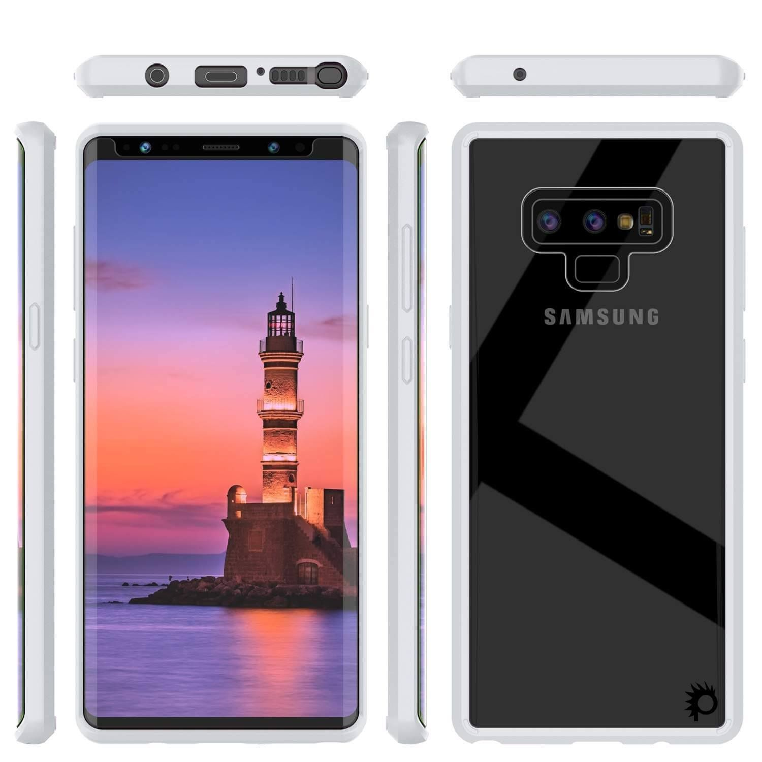sneakers for cheap 0d838 a023a Galaxy Note 9 Punkcase Lucid-2.0 Series Slim Fit Armor White Case ...
