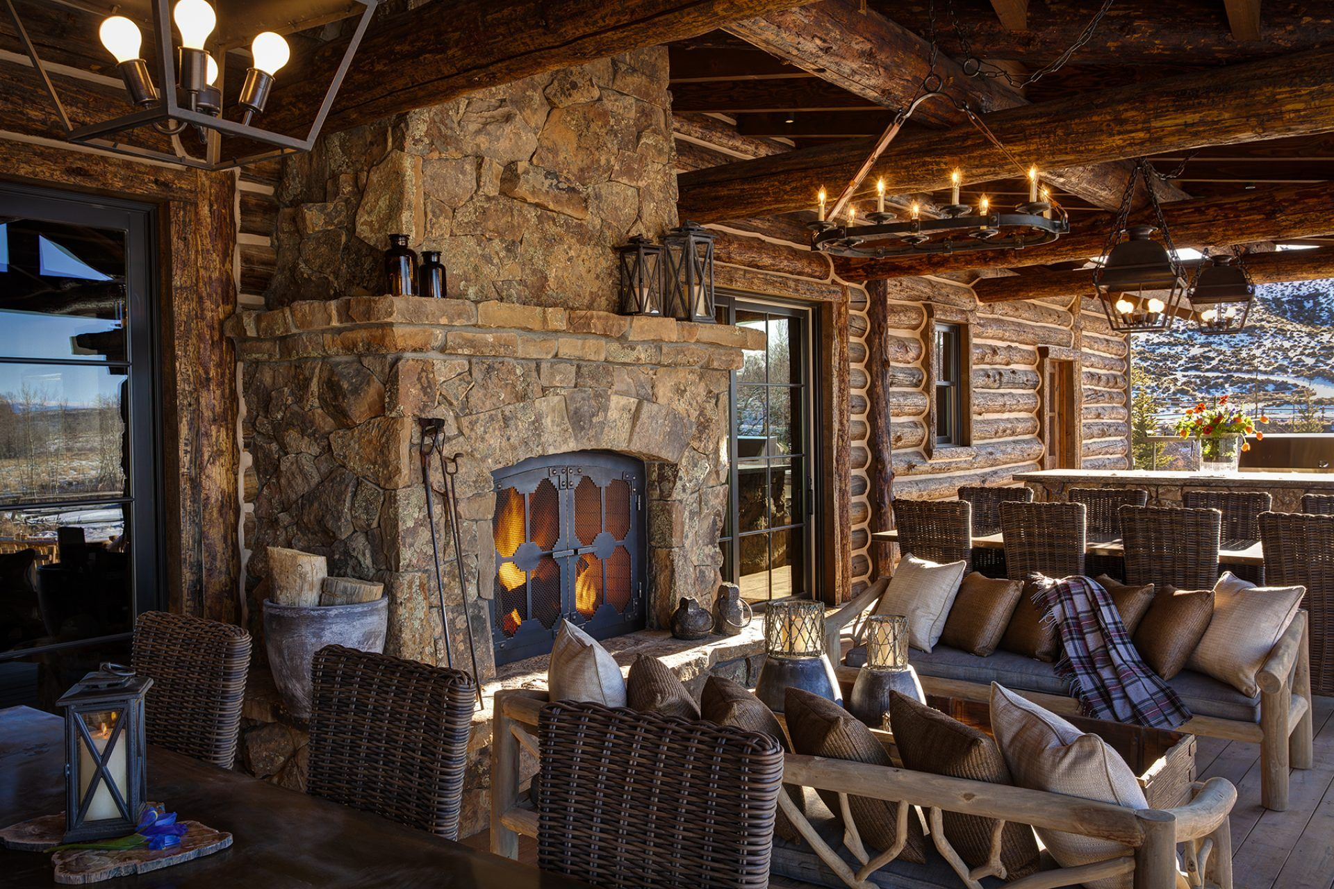 Maybe the ceremony in front of this fireplace if not in a ... on Front Range Outdoor Living id=78350