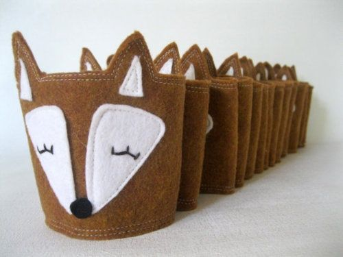 Craft It: Fox Coffee Cozy Pictured cozyby Riley Construction