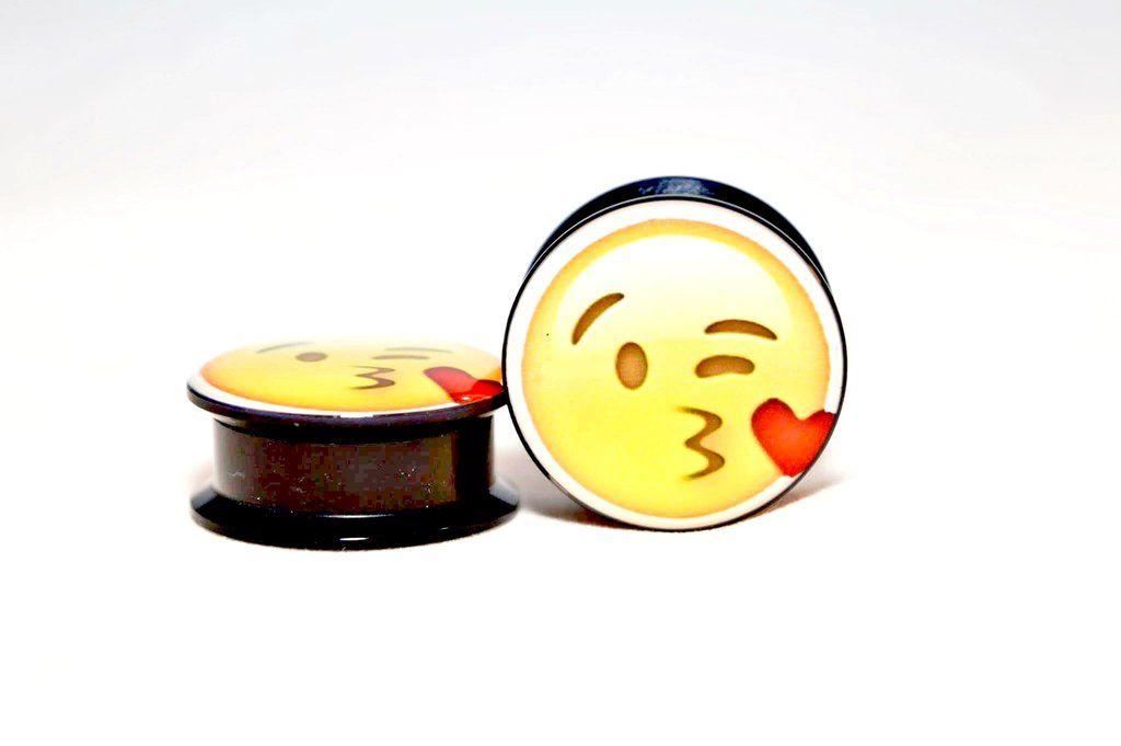 Iphone Ios Blowing A Kiss Emoji Plug Kiss Emoji Plugs Body Jewellery