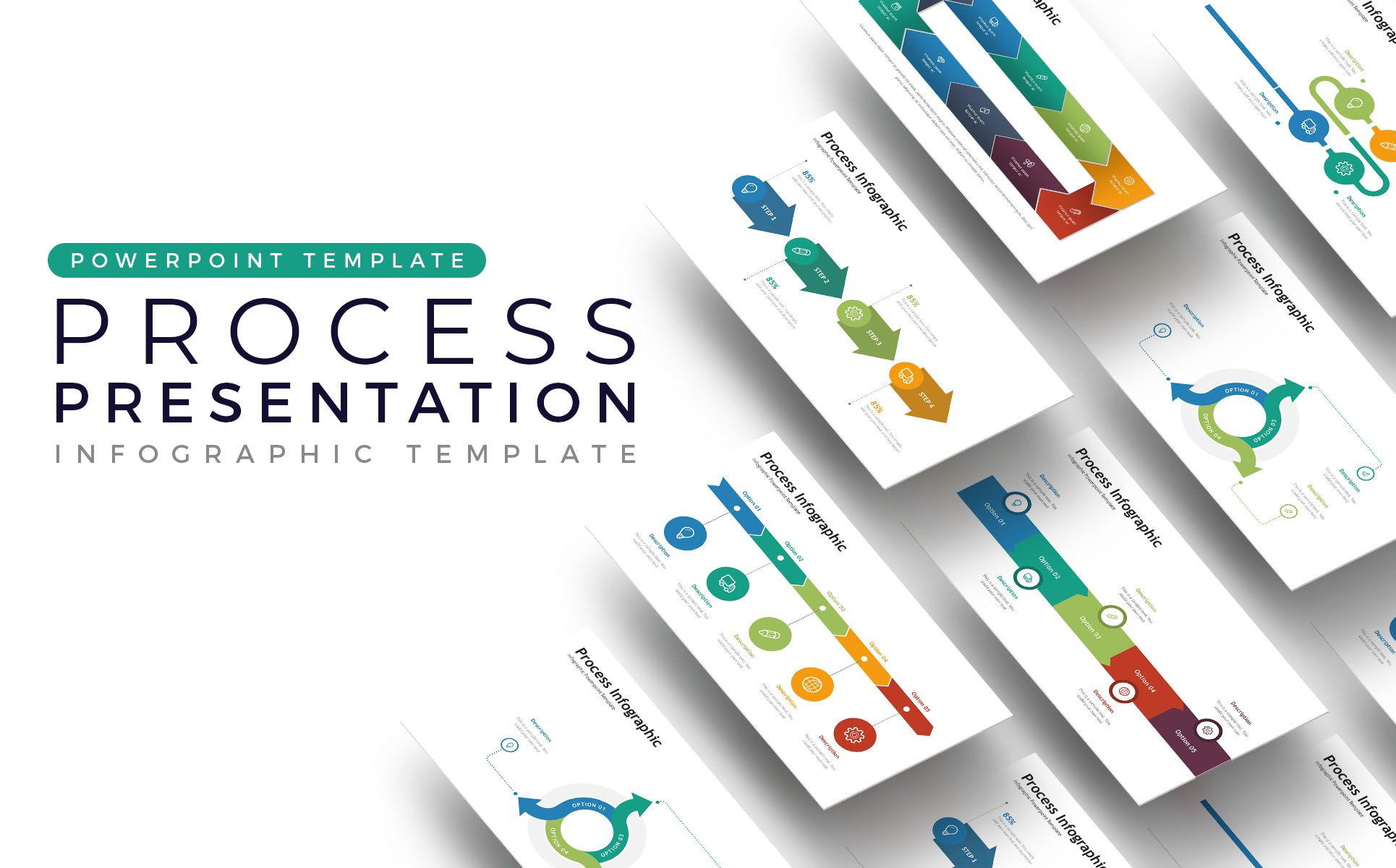 process presentation infographic powerpoint template design
