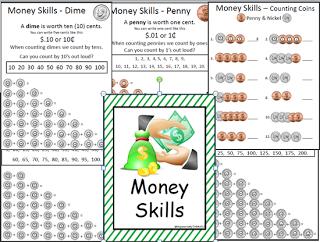 money skills 18 worksheets for the classroom life skills activities life skills art. Black Bedroom Furniture Sets. Home Design Ideas