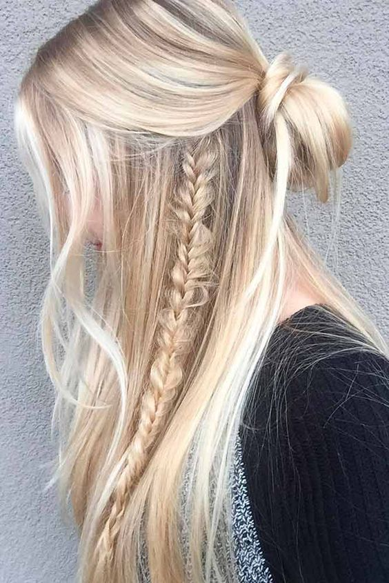 15 Easy Hairstyles That Are Incredibly Stylish Too With Images Easy Summer Hairstyles Long Hair Styles Down Hairstyles