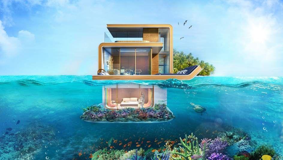 Lo último en casas para ricos: villas flotantes con dormitorios bajo ...