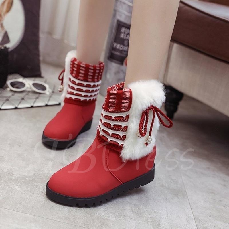 #AdoreWe #TbDress - TBDress Warm Plush Lace Up Height Increasing Platform  Snow Boots for Women - AdoreWe.com