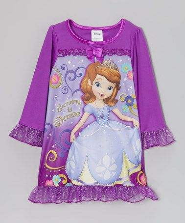 Take a look at this Purple Sophia the First Nightgown - Toddler by Sofia  the First on  zulily today! 4c7eeb21c
