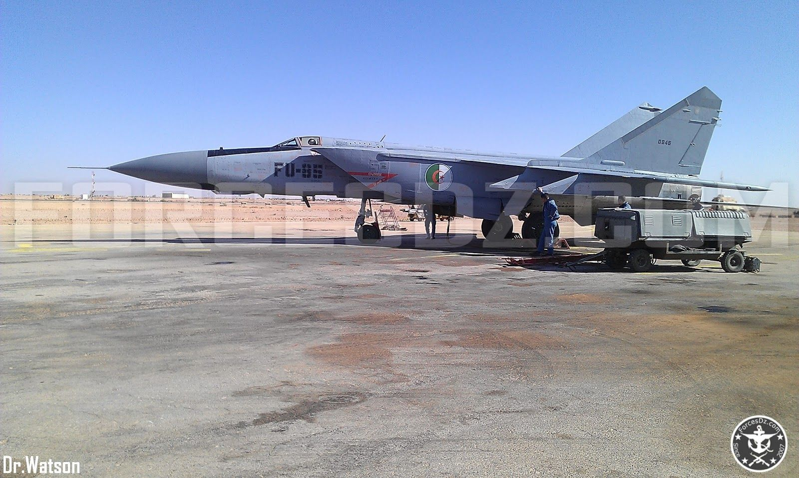 Algerian Air Force MiG-25PD, which appears to be in good