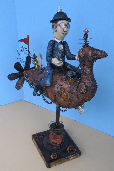 Idea Man - Frowning Francis Folk Art