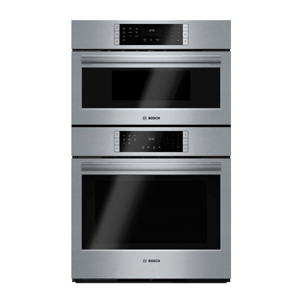Bosch 800 Series 30 In Combo Electric Wall Oven With European Convection And Microwave In Stainless Steel With Touch Controls Hbl87m52uc The Home Depot Electric Wall Oven Combination Wall Oven Wall Oven Microwave