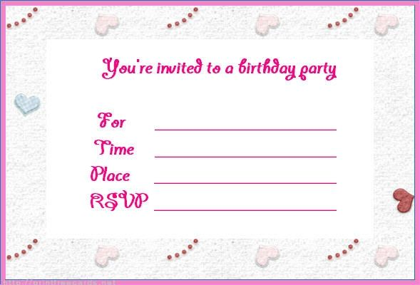 Free Online Printable Birthday Invitation Templates \u2013 Best Happy