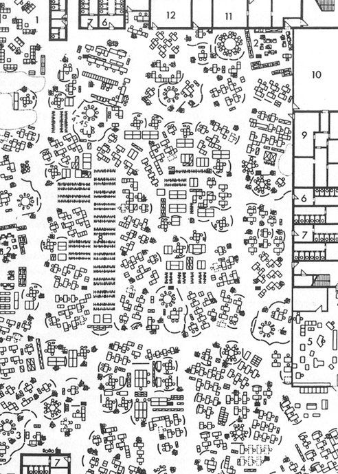 Burolandschaft The First Office Landscape Draw Diagram How To Plan Architecture Plan