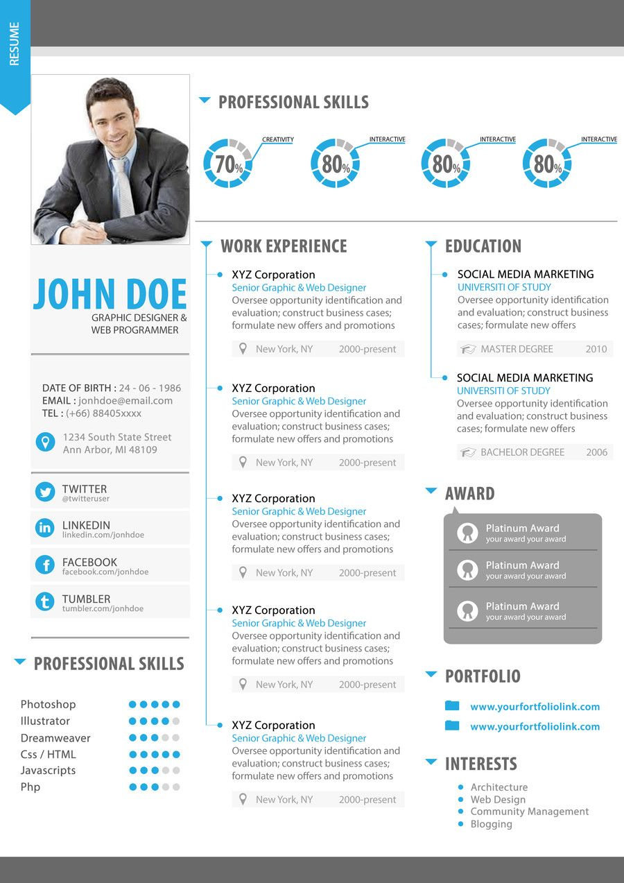 check out yugi1986s entry in  30 usd contest premium quality resume design  psd
