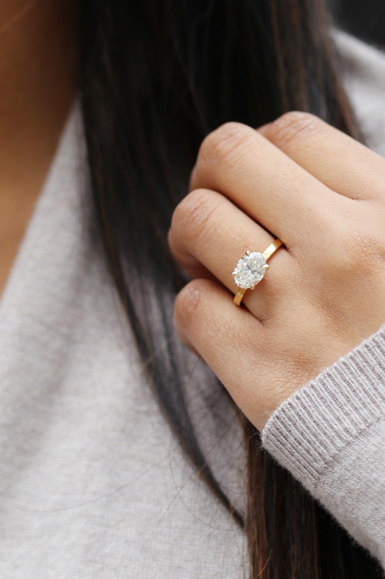 Begin Your Custom Lab Diamond Creation At Ada Diamonds Today 14k Rose Gold Engagement Rings Rose Gold Round Engagement Ring Opal Earrings Stud