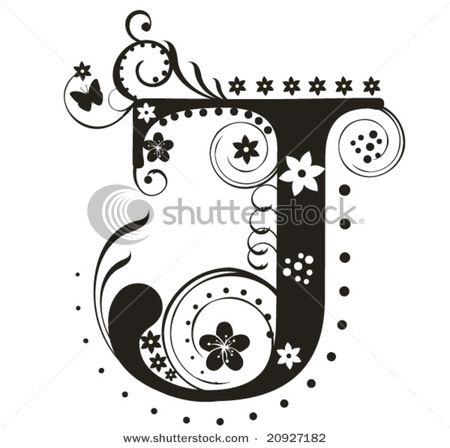 stock vector illustration letter j image id 20927182 release information na copyright yelena panyukova