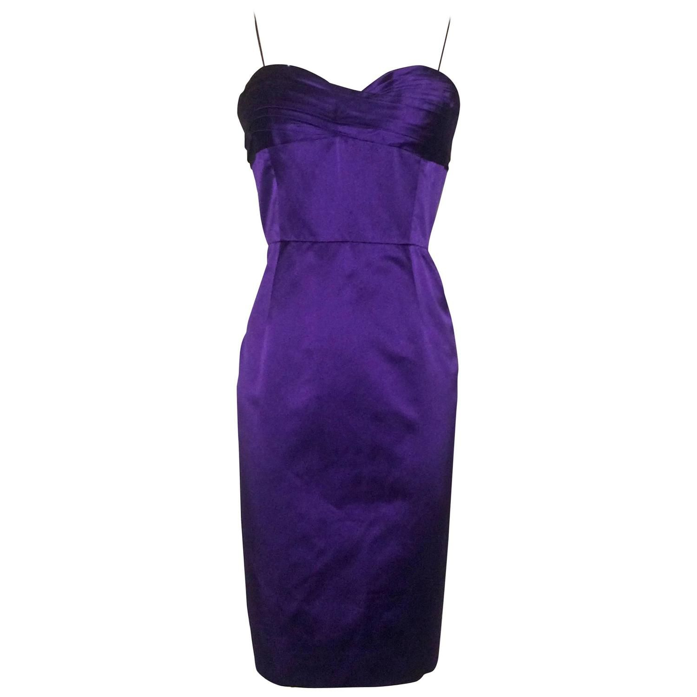 Oscar de la Renta Violet Purple Silk Cocktail Dress | From a ...