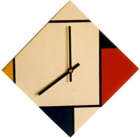 Mondrian Furniture wall clocks | rietveld / de stijl~clocks | clocks | pinterest | de