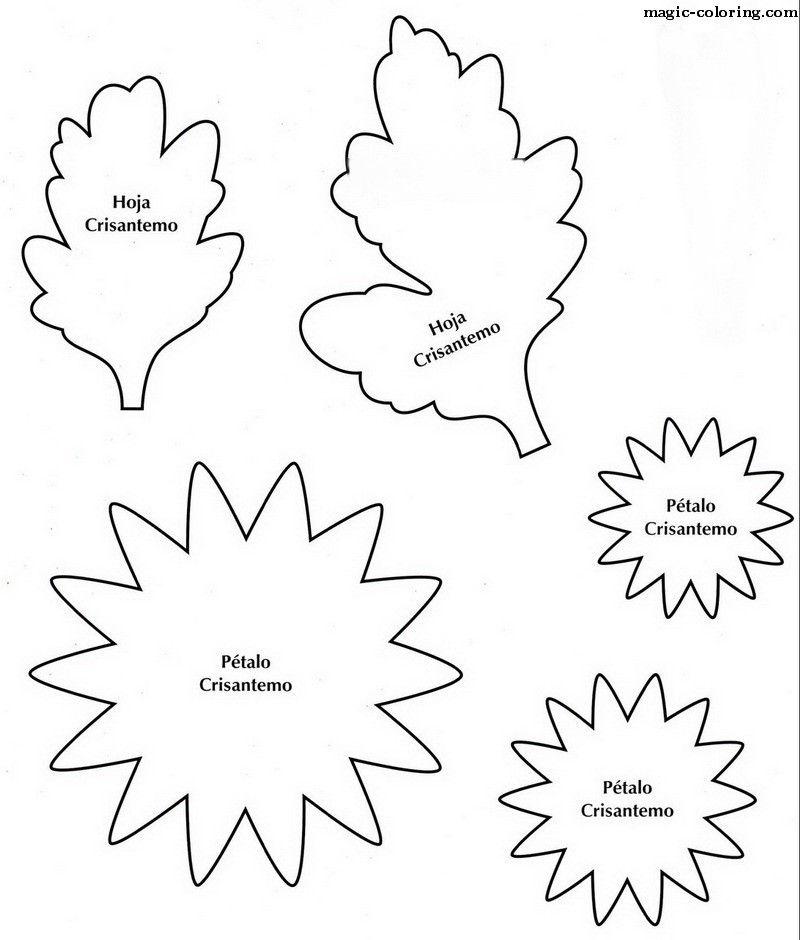 MAGIC-COLOREAR | esqueleto flor del crisantemo | Şablon | Pinterest ...