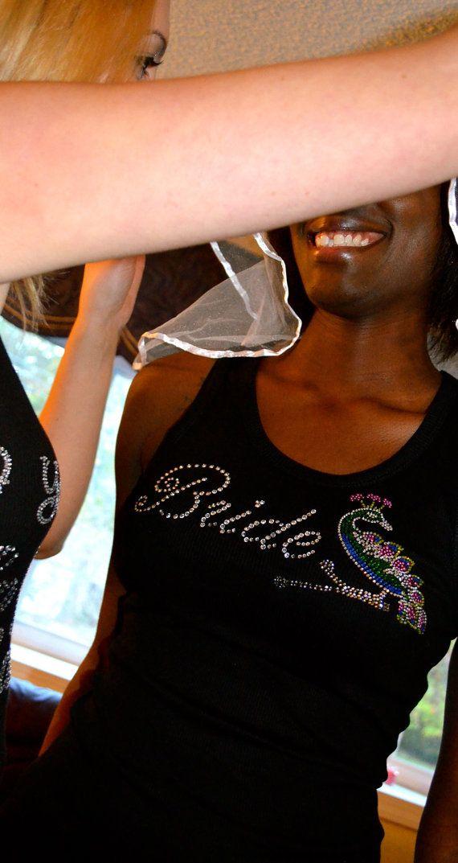Peacock Wedding. Bride shirt. Bride half lace tank top. Small, Medium, Large, 1x, 2x, 3x.Black, White, Hot Pink, purple.