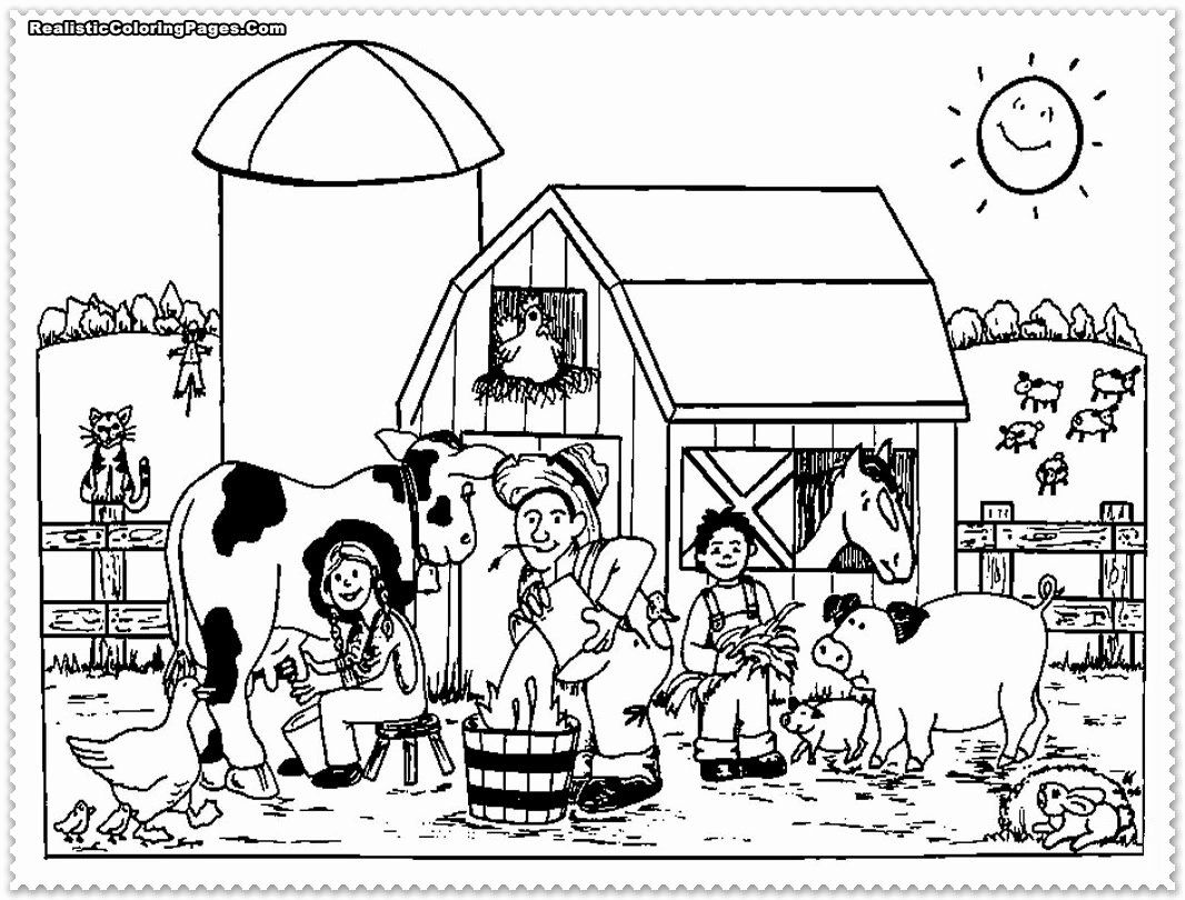 Printable Farm Animal Coloring Pages In 2020 Farm Animal