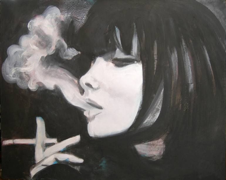 girl smoking (Emil Valev)