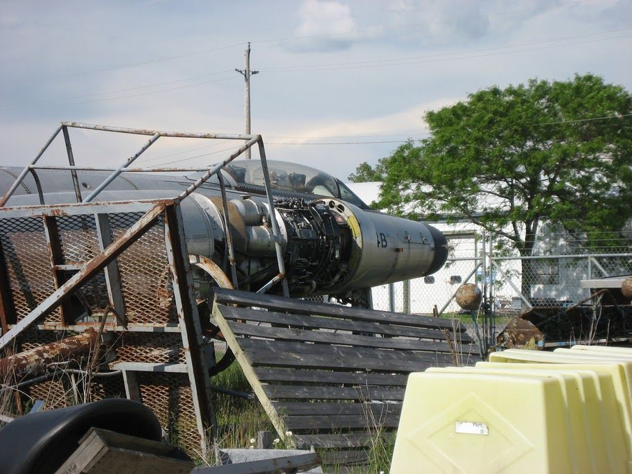CF100 18773 in pieces at the National Air Force Museum in