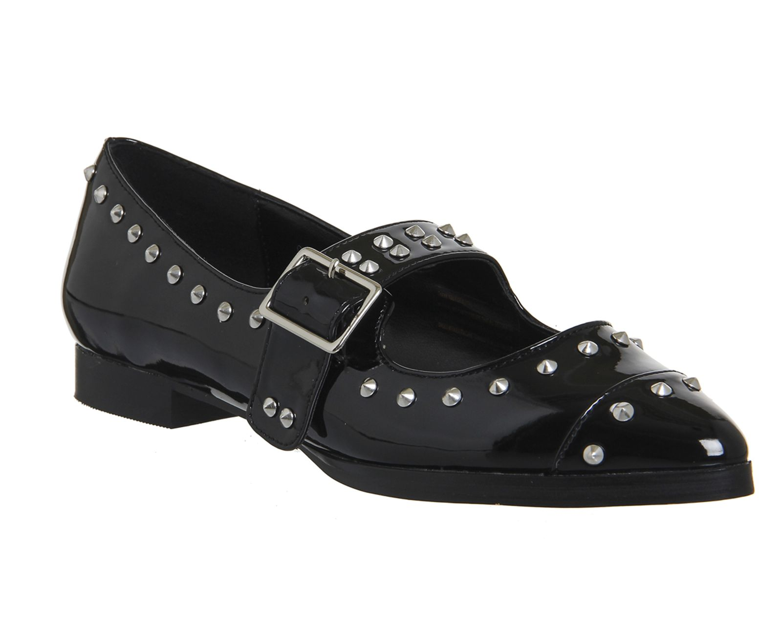 Black Patent Office Studded Mary Janes From Co Uk