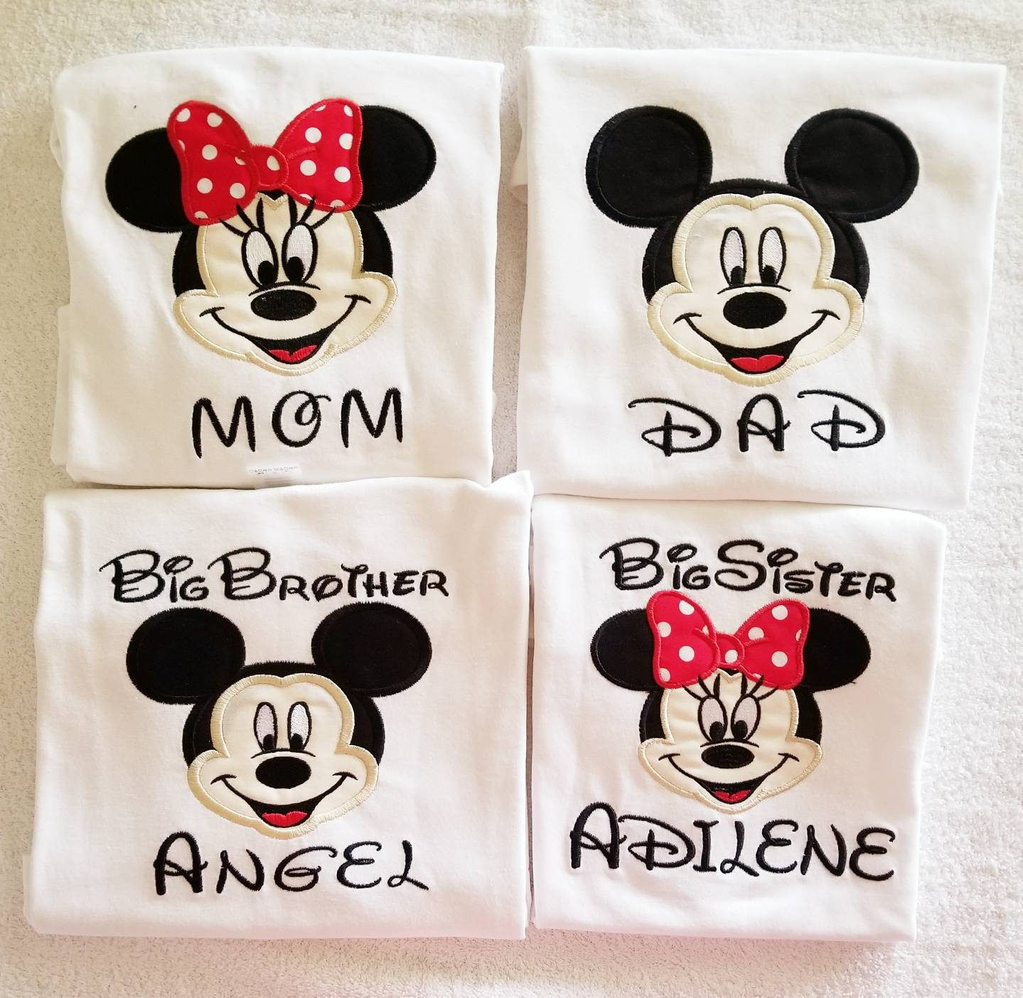 56dc64cae Mickey Mouse Birthday Shirt, Mom and Dad Shirt, Mickey Mouse Daddy shirt, Minnie  Mouse Mom shirt, Family Mickey Mouse shirts